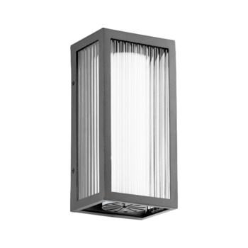 Maestro Black Soft Contemporary LED Outdoor Wall Light
