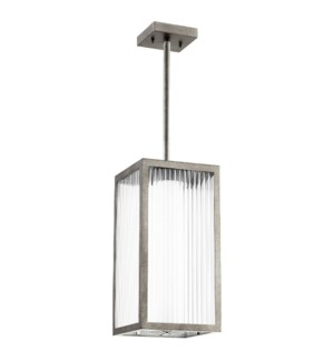 Maestro Weathered Zinc Soft Contemporary Outdoor Pendant