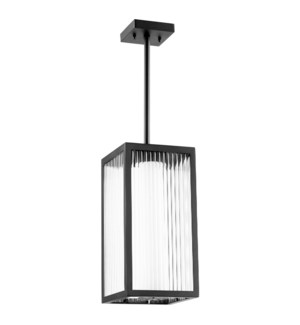 Maestro Black Soft Contemporary Outdoor Pendant