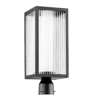 Maestro Noir Soft Contemporary Outdoor Post Light