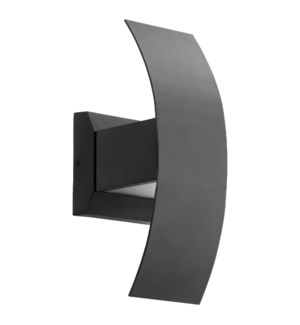 Curvo Noir  Contemporary LED Outdoor Wall Light