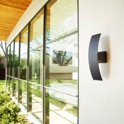 Curvo Noir  Contemporary LED Outdoor Wall Light