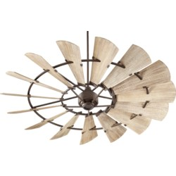 Windmill 72-in 15 Blade Oiled Bronze Transitional Ceiling Fan