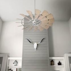 Windmill 72-in 15 Blade Galvenized Transitional Ceiling Fan