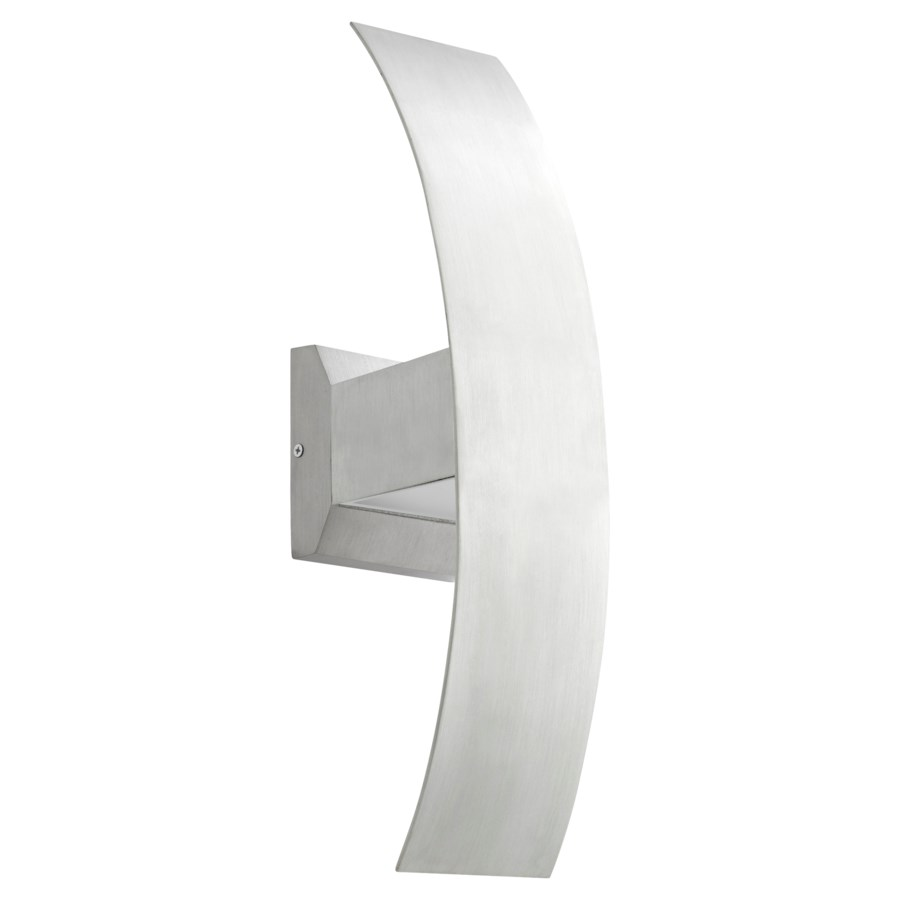 Curvo Brushed Aluminum  Contemporary LED Outdoor Wall Light