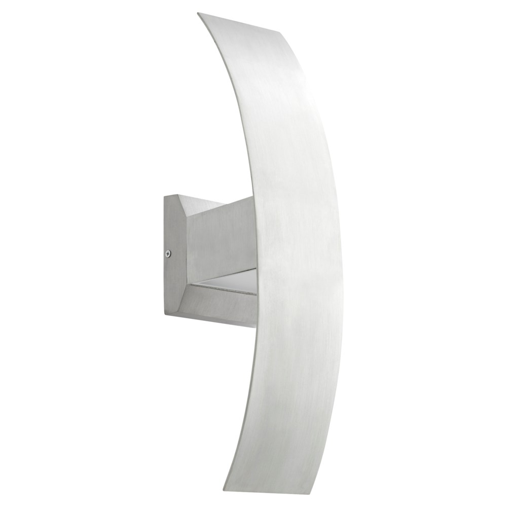 Curvo Brushed Aluminum  Contemporary LED Outdoor Wall Light