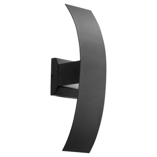 Curvo Black Contemporary LED Outdoor Wall Light