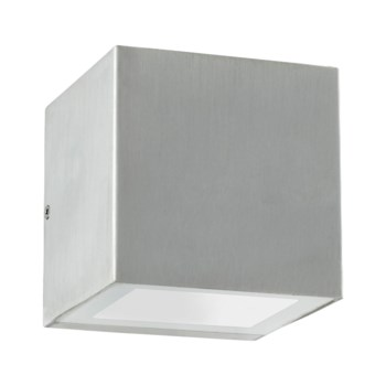 Ion Brushed Aluminum Contemporary Outdoor Wall Light