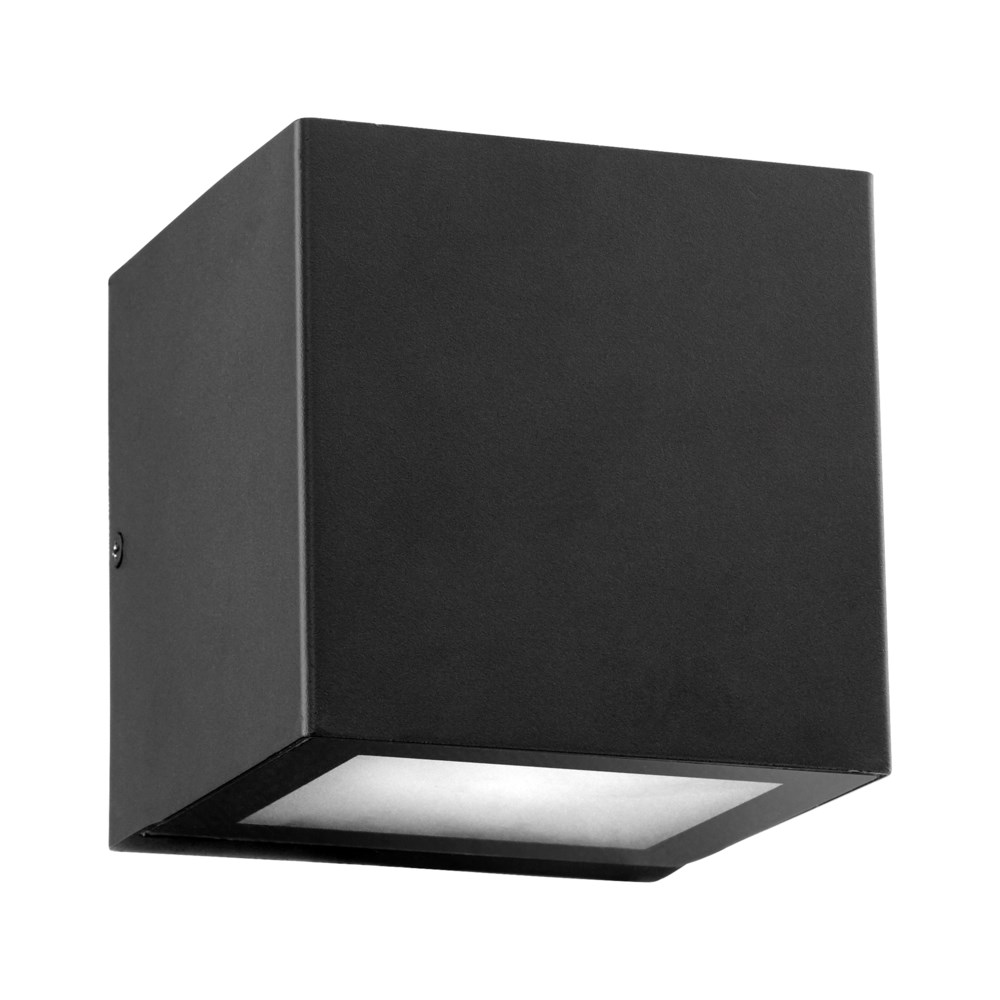 Ion Black Contemporary Outdoor Wall Light