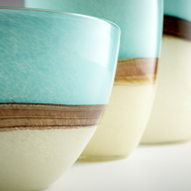 Md Turquoise Earth Vase