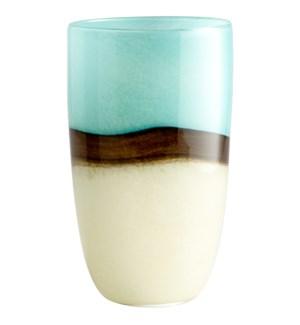 Lg Turquoise Earth Vase