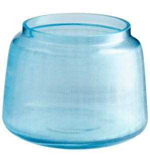 Small Griddled Sky Vase
