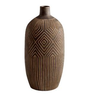 Large Dark Labyrinth Vase