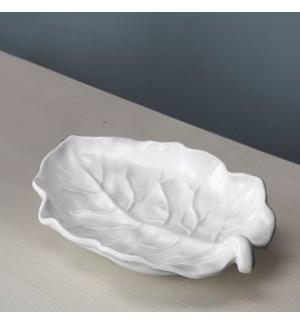 VIDA Lettuce Medium Leaf Platter (White)