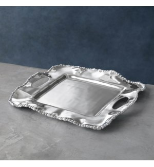 ORGANIC PEARL Kristi Small Square Tray with Handles
