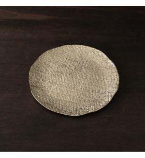 SIERRA MODERN Tela Large Round Platter (Gold)