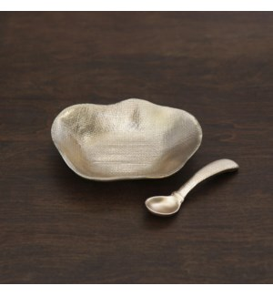 GIFTABLES Sierra Modern Kioto Mini Bowl with Spoon (Gold)