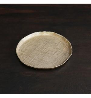 SIERRA MODERN Seattle Medium Round Platter (Gold)