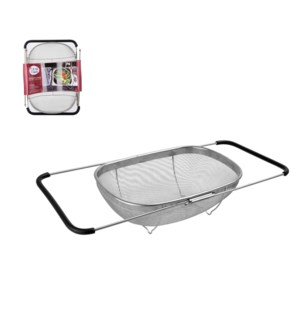 Over the sink colander w/expandable  Handle 14x9.5in SS      643700030023