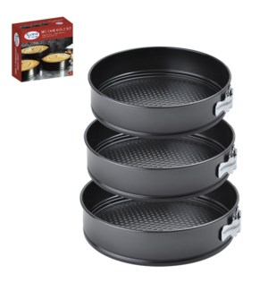 Cake Mould 3pc Set. Carbon steel 9.5in, 10in, 11in           643700050922
