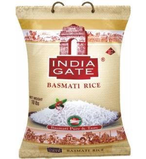 India Gate White Poly Basmati Rice 10lb                      690225104418