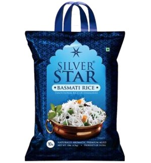 Basmati Rice 10lbs Non Woven Bag Silver Star                 860001127447