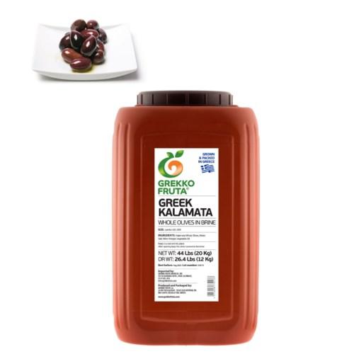 Greek Kalamata Whole Olives 26.4 lbs Jumbo 181-200           521300877013