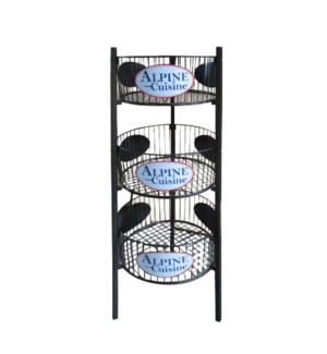 Display Rack Iron 3 Tier Black with 3 Logo                   643700164834