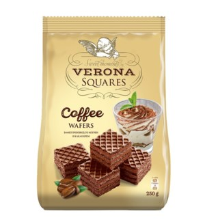 Verona Wafer Cubes with Coffee Cream Filling 8.8oz 250g      531999150202