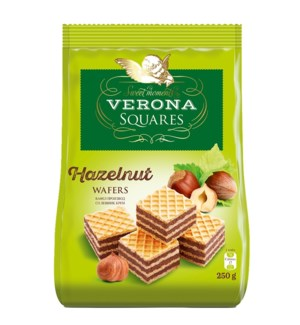 Verona Wafer Cubes with Hazelnut Cream Filling 8.8oz 250g    531999150252