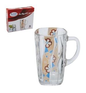 Tea Glass 6pc Set gold design 6oz                            643700236173