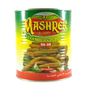 Pickled Cucumber in Brine Tin 3kg Al Mashrek                 643700170620