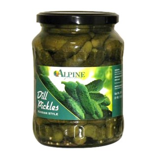 Dill Pickles (OU Symbol) Glass 24oz Alpine Gourmet           643700210418
