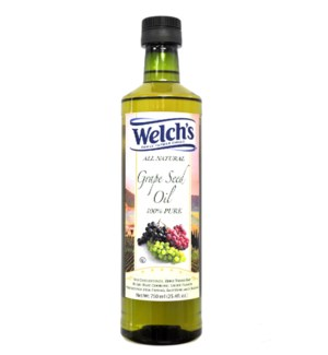 Grape Seed Oil 100% Pure 750mL Glass Welch's                 643700218926