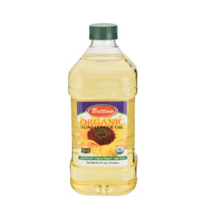 Sunflower Oil 100% Organic PET 2L Bettino                    643700219459