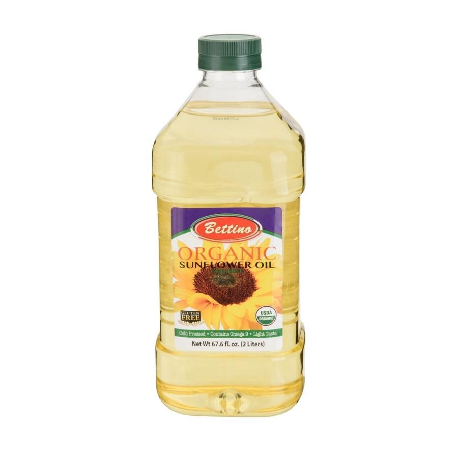 Bettino 100% Organic Sunflower Oil Blend 67.6 fl oz 2L       643700219459