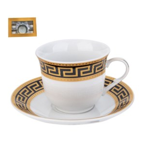Tea Cup and Saucer 6 by 6, 7.5oz, Porcelain                  643700288844