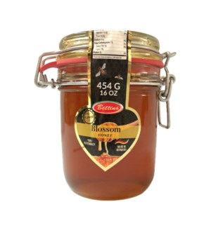 Blossom Honey 100% Pure Glass Jar 16oz Bettino               643700278951