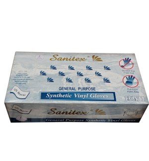 Vinyl Gloves XLarge Lt Powdered 100 count -JRMI              784818404921