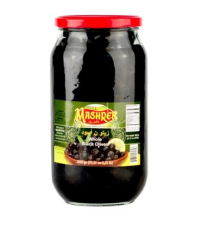 Black Olives Glass 1000g Al Mashrek                          643700170347