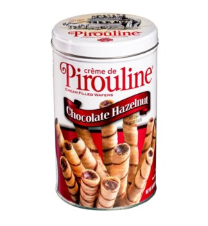 Rolled Wafers Crème Filled Dark Chocolate Hazelnut Tin 14.1  042456000505