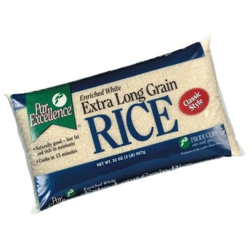 Extra Long Grain White Rice 2lb Bag Par Excellence           72806008016