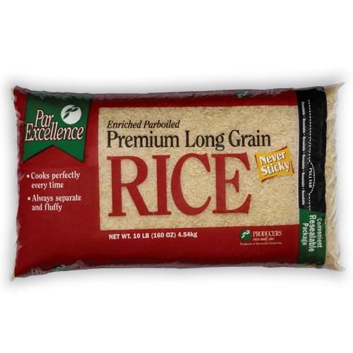 Parboiled Long Grain Rice 10lb Bag Par Excellence            72806057137