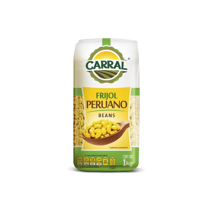 Carral Foods Peruano Beans 2.2lbs 1kg                        750302361605