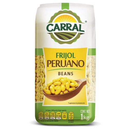 Peruano Bean in Bag 2.24 lbs. Carral Foods                   750302361605