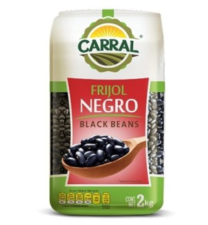 Black Beans in Bag 2.24 lbs. Carral Foods                    750302361611