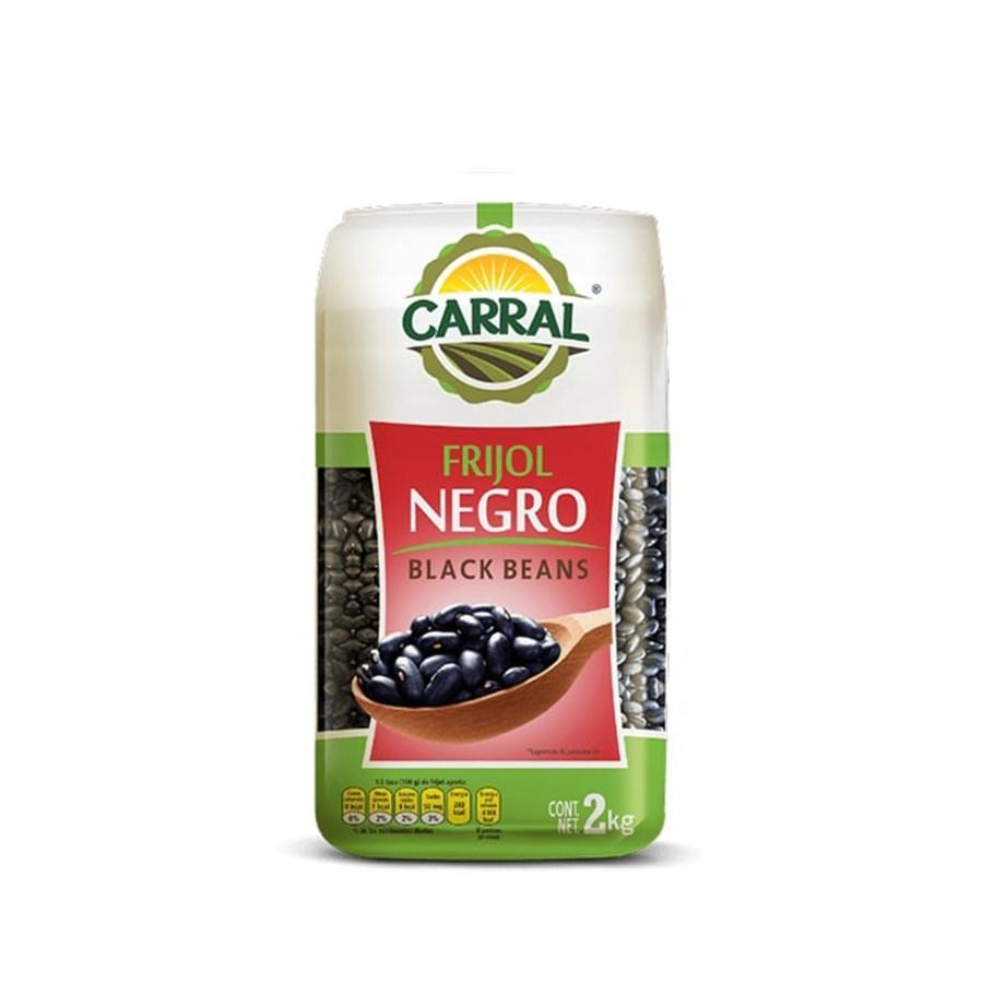 Black Beans in Bag 2.24 lbs. Carral Foods                    750302361611