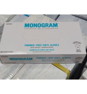 Vinyl Gloves Medium 100 count MONOGRAM                       758108664067