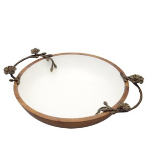 Round Bowl Wood 12x3in                                       403352401017