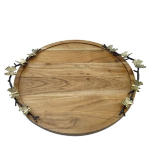 Round Tray Wood 16in                                         403352401005